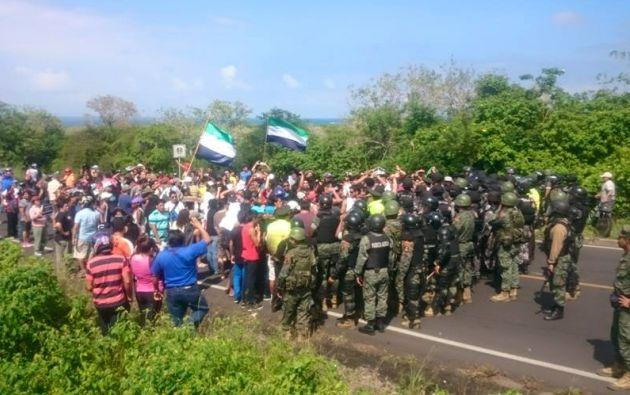 Manifestaciones empezaron esta mañana.