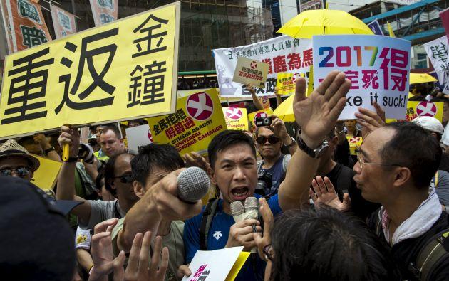 La marcha de hoy es la primera de una serie de protestas previstas esta semana. Foto: REUTERS.
