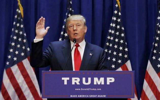 Trump anunció su pre candidatura a la presidencia estadounidense por el partido republicano esta mañana.