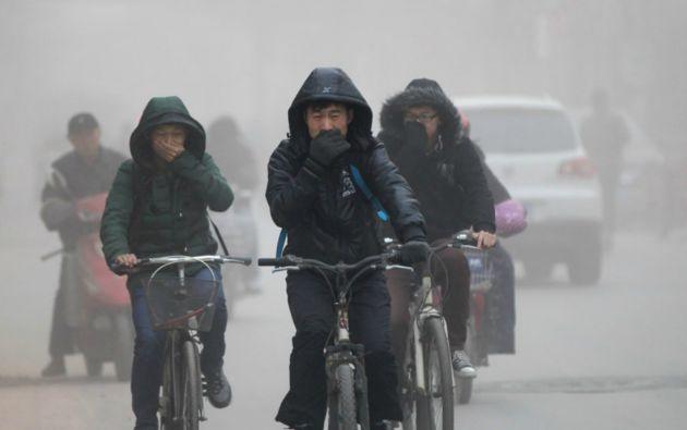 En China se registran niveles críticos de contaminación en el aire. Foto: REUTERS