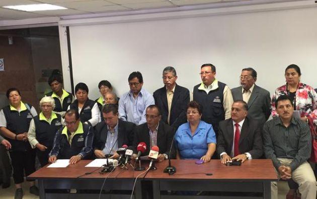 Los dirigentes de la CUT expresaron su apoyo al presidente de la República, Rafael Correa, y al plan de diálogo nacional. Foto: Twitter.