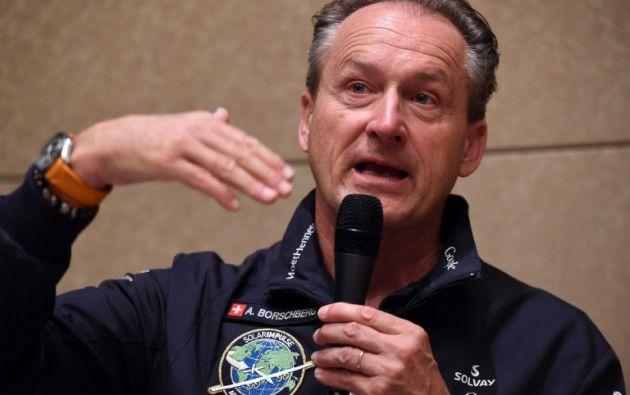 Andre Borschberg, piloto. Foto: AFP