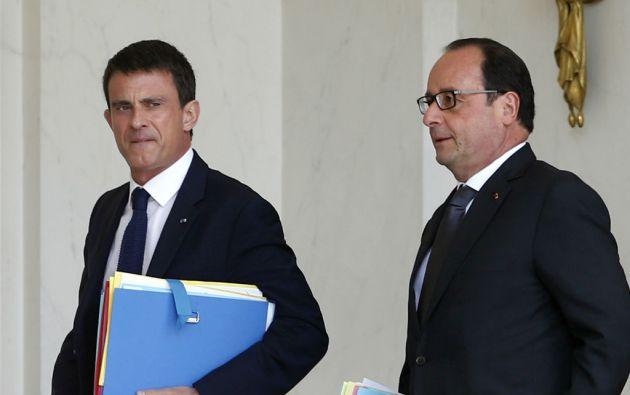 Manuel Valls y el presidente de Francia, François Hollande. Foto: REUTERS