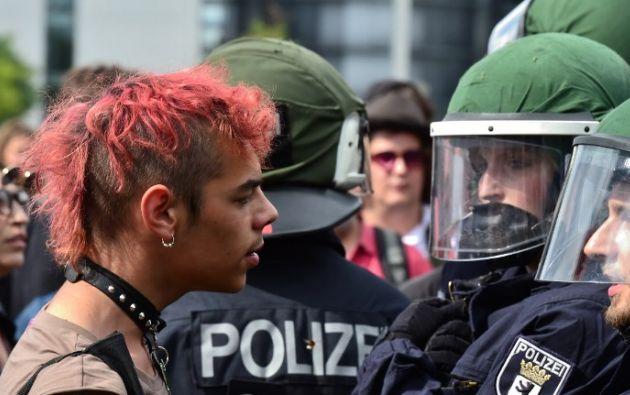 Protestas contra refugiados en Alemania. Foto: AFP