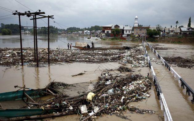 Inundaciones en India. Foto: Reuters