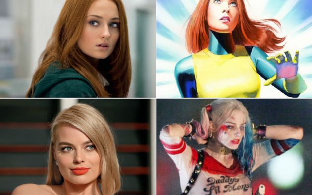 Sophie Turner y Margot Robbie serán Jean Grey (X-Men) y Harley Quinn (Suicide Squad).