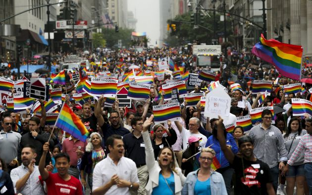 Marcha por el Orgullo Gay en la Quinta Avenida. Foto: REUTERS