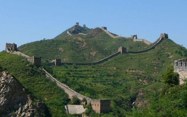 La Gran Muralla es el monumento más famoso de China.