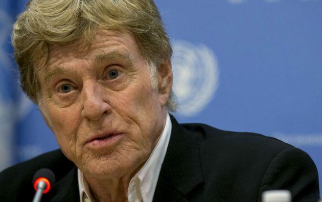 Robert Redford habló en la ONU sobre el medioambiente. Foto: REUTERS