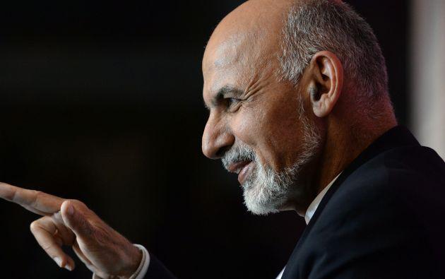 El presidente afgano Ashraf Ghani.