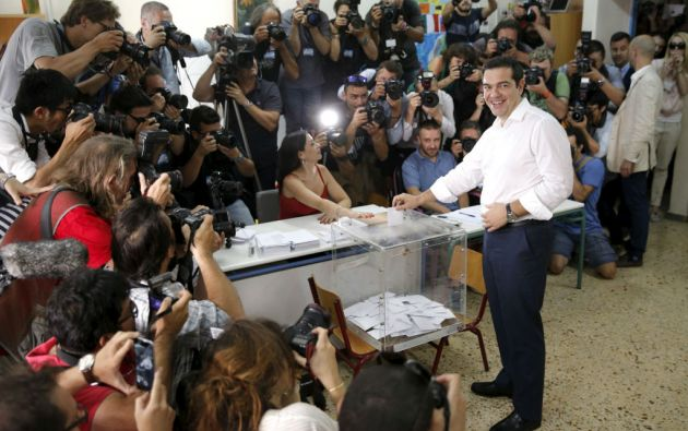 """El primer ministro Alexis Tsipras pidió a los electores pronunciarse por el """"no"""". Foto: REUTERS"""