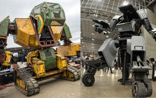 Los titanes de hierro MegaBot y Kuratas.