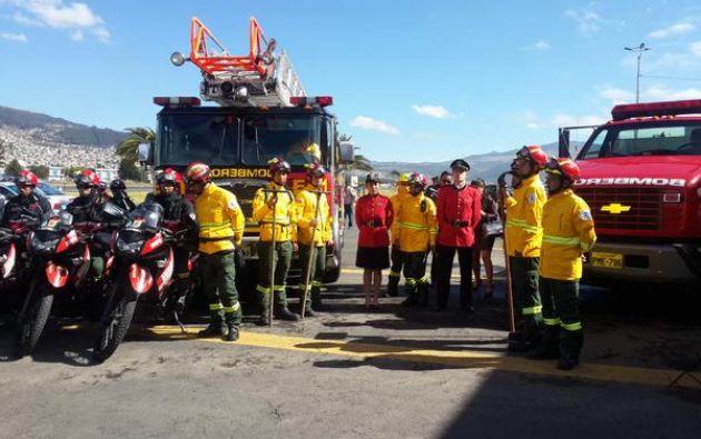 Más de mil personas de distintas instituciones municipales trabajan dentro del Plan de Prevención y Respuesta, informó el alcalde de Quito. Fotos: Bomberos Quito.