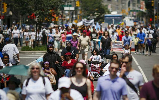 La marcha salió del Madison Square Park (Manhattan) y siguió por Broadway hasta Union Square. Foto: REUTERS