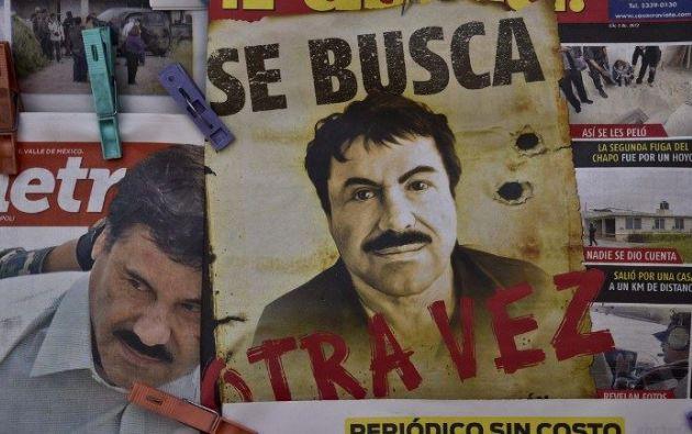 """""""El Chapo"""" Guzmán escapó de prisión este sábado 11 de julio. Fotos: AFP."""