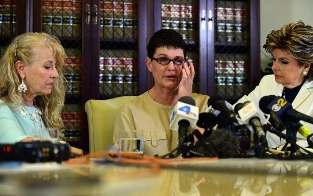 Dos presuntas víctimas del actor. Foto: AFP