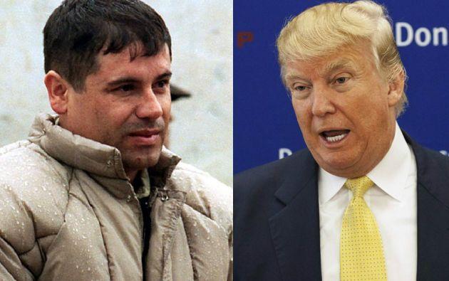 Joaquín Guzmán y Donald Trump.