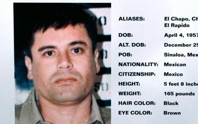 Ficha de Joaquín Guzmán, enemigo público #1 de Chicago.