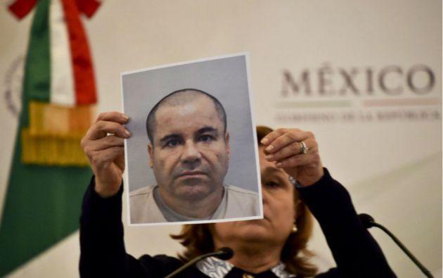 La imagen de Guzmán circula por todo el territorio mexicano. Foto: AFP
