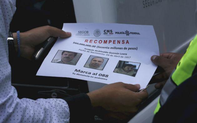 """En México se ofreció una millonaria recompensa por información que lleve a la recaptura de """"El Chapo"""" Guzmán. Foto: REUTERS"""