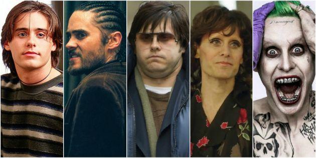 Algunas de los personajes interpretados por Jared Leto.