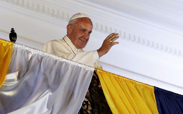 Francisco en el balcón de Carondelet. Foto: REUTERS