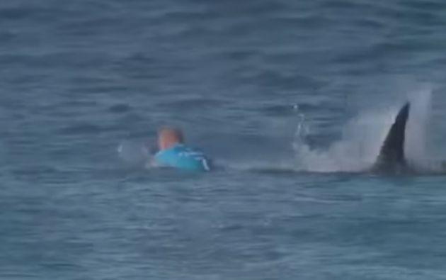 El ataque del tiburón no dejó lesiones en Mick Fanning.