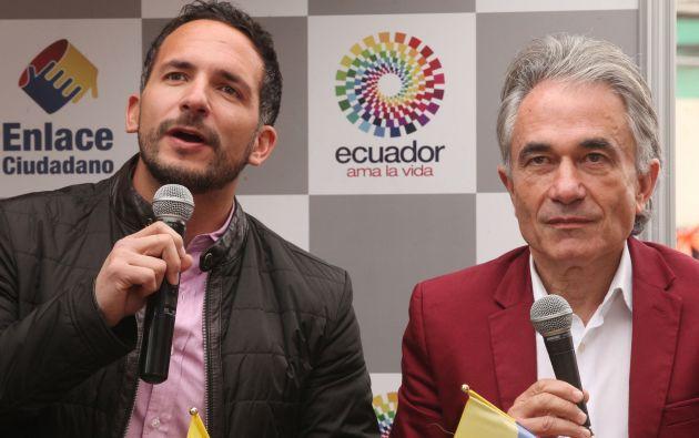José Andrade (izquierda) y Fernando Albericio en el enlace ciudadano 407, en enero pasado. Foto: Flickr / Presidencia Ecuador.