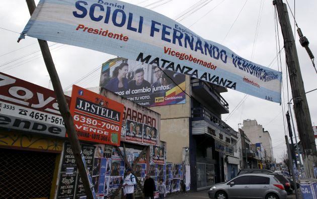 Daniel Scioli es el candidato a la presidencia por el kirchnerismo. Foto: REUTERS.