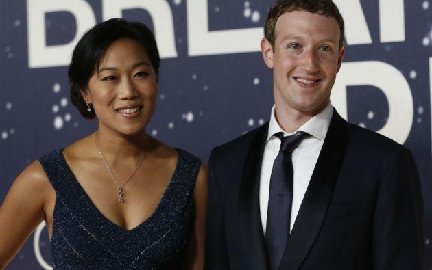 Priscilla y Mark Zuckerberg. Foto: REUTERS