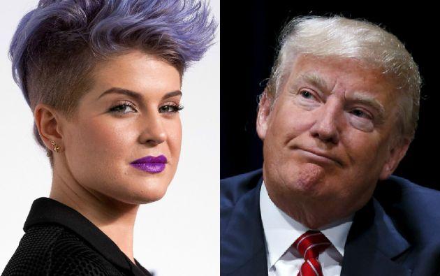 Kelly Osbourne y Donald Trump.