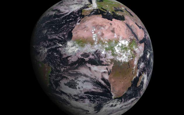 La primera foto tomada por el satélite MSG-4.