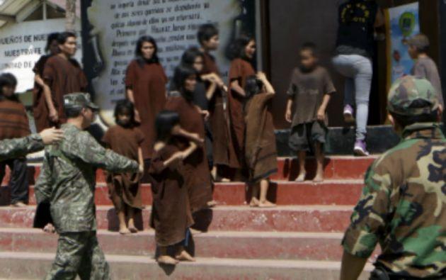 El Ejército liberó a 33 niños y 21 adultos -en su mayoría mujeres- bajo cautiverio en campamentos de Sendero Luminoso.