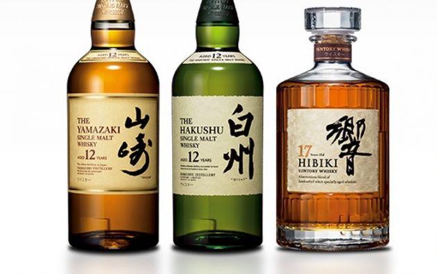 Seis tipos de whisky producido por el grupo Suntory serán enviados a la EEI.