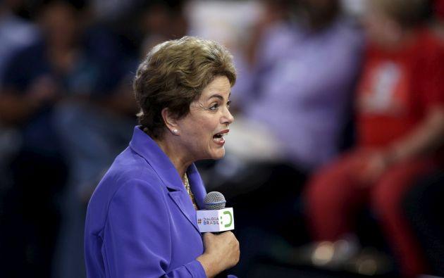 Rousseff asumió la presidencia de Brasil por segunda vez en enero de este año. Foto: REUTERS