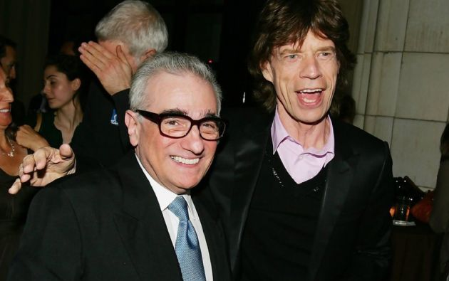 Martin Scorsese y Mick Jagger.