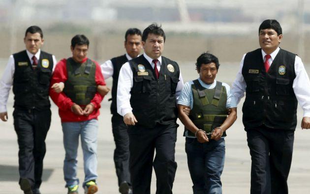 """A los detenidos líderes de """"Sendero Luminsoso"""" se los acusa de asesinar a policías y militares, derribar un helicóptero y atacar una comisaría. Foto: REUTERS"""