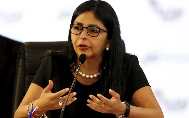 Canciller de Venezuela, Delcy Rodríguez. Foto: REUTERS