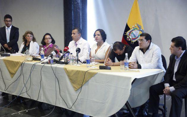 John Camacho, médico general, rechazó la participación de la Federación Médica Ecuatoriana en paro nacional. Foto: Asamblea Nacional.