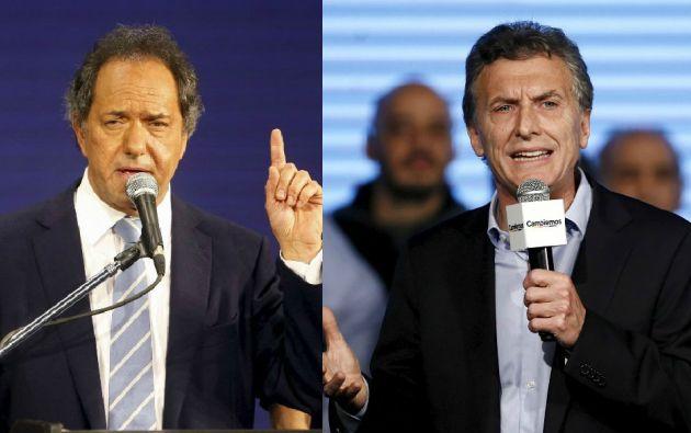 Daniel Scioli y Mauricio Macri. Foto: REUTERS