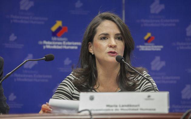María Landázuri, viceministra de Movilidad Humana.