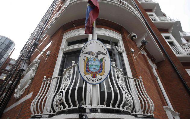La embajada ecuatoriana en Londres. Foto: REUTERS.