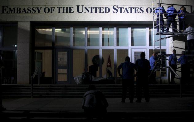 Embajada americana en Cuba. Foto: REUTERS