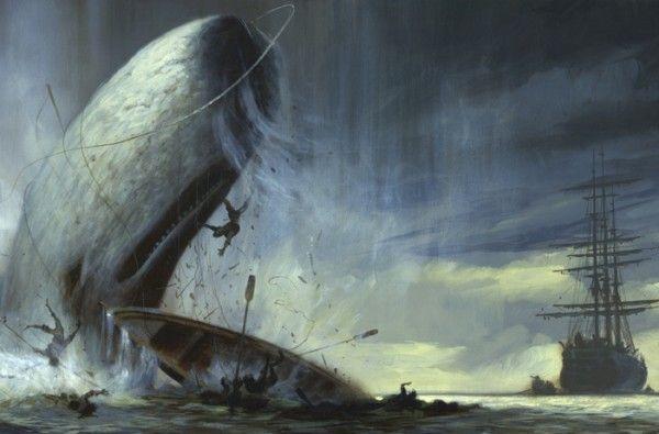 La ballena recuerda a Moby Dick, la famosa novela de Herman Melville.