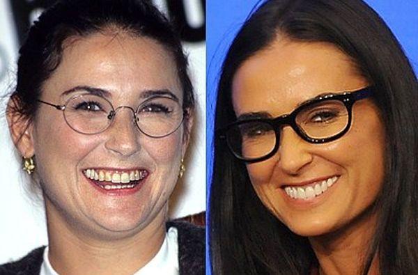 El antes y ahora de la actriz Demi Moore.
