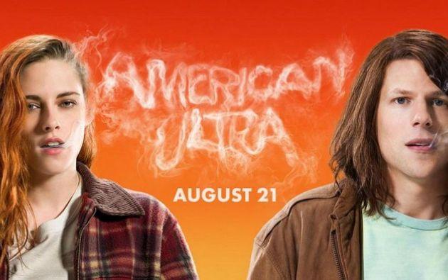 """En """"American Ultra"""", Jesse Eisenberg interpreta a un joven consumidor de marihuana que, sin saberlo, es un superagente del Gobierno. Foto: Facebook."""