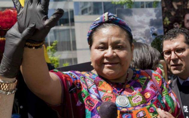 Rigoberta Menchú, premio Nobel de la Paz.