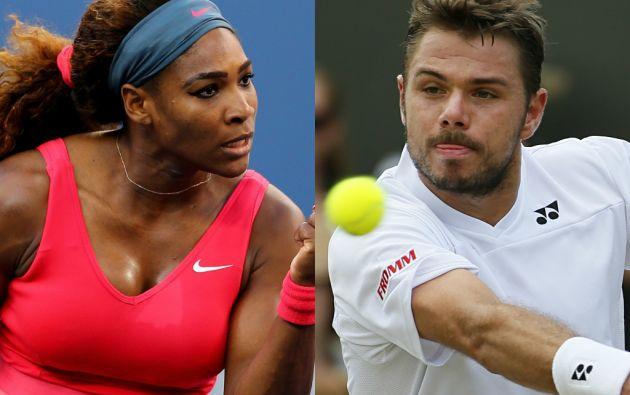 Serena Williams y Stanislas Wawrinka.