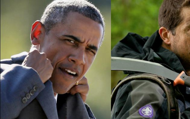 Obama estará con el famoso aventurero británico Bear Grylls.