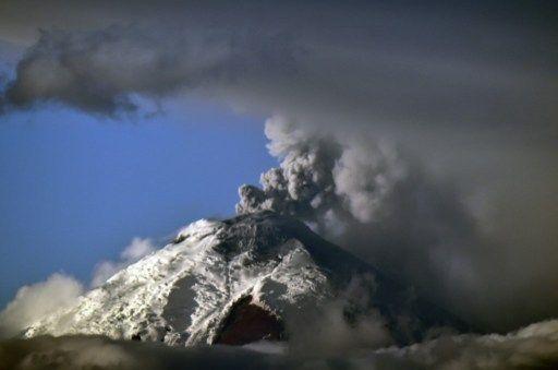 Toma del Cotopaxi realizada este 3 de septiembre. Foto: AFP.